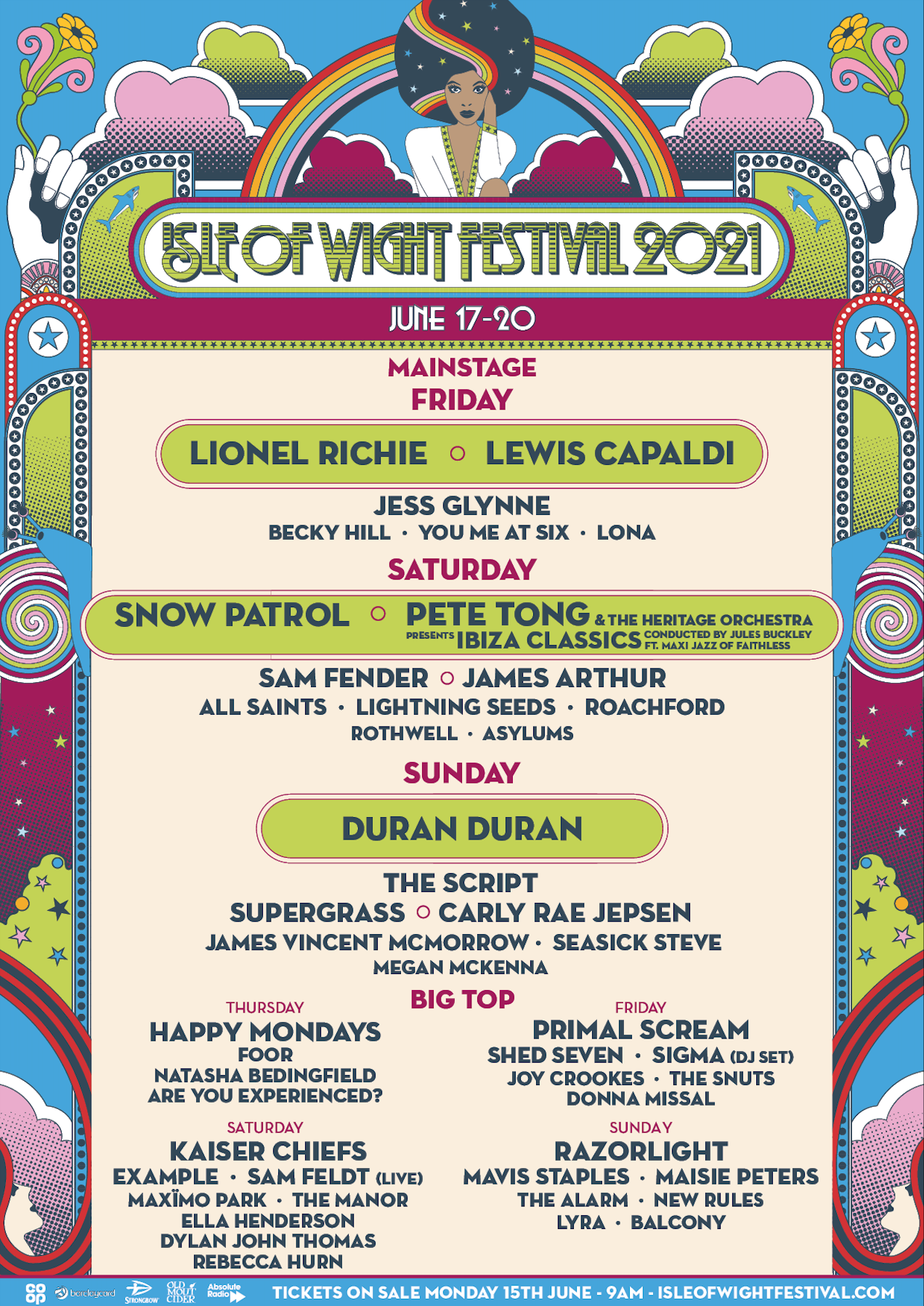 Isle of Wight Festival lineup 2021